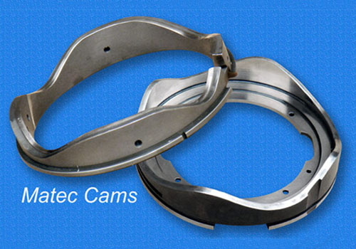 Matec Cams. Diverse Items. Jacquard Cams, for Hosiery Machines